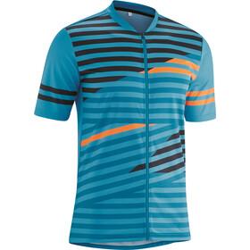 Gonso Agno Full-Zip SS Bike Shirt Men mosaic blue